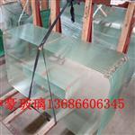 玻璃厂加工10mm超白钢化玻璃精磨直边加工厂钢化玻璃水切开口