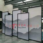 廣州富景玻璃有限公司供應山水畫玻璃背景酒店山水畫玻璃隔斷