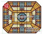 优质彩色教堂玻璃彩绘穹顶厂家直销