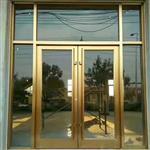 北京汽车4s店隔墙高清钢化玻璃地弹簧门 12mm厚