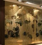 厂家直销艺术夹丝玻璃 装饰夹绢工艺玻璃加工