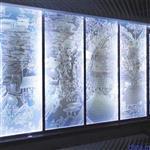 电光发光内雕玻璃