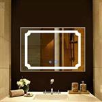 智能镜防雾镜LED镜卫浴镜无框镜酒店装修工程镜壁挂镜穿衣镜