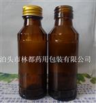 山东林都大量现货供应100ml棕色口服液玻璃瓶