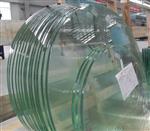 定制12mm异形钢化玻璃台面精磨亮边钢化玻璃平板桌面粘铝饼