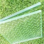 家庭地板玻璃透光防滑玻璃花紋