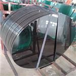 东莞玻璃厂家定制19mm钢化玻璃桌面加工烤黑漆玻璃台面