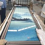 夹丝绢艺术玻璃/隔断 /屏风艺术山水画