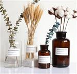厂家直销欧式简约渐变色竖条玻璃创意水培客厅摆件干花插花花瓶