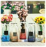 欧式大口折纸插花瓶 小清新水培玻璃花瓶 家居桌面摆件装饰插花瓶