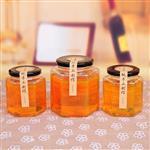 直销优质六棱玻璃瓶280ml蜂蜜瓶 密封储物酱菜瓶罐头果酱燕窝瓶
