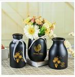北欧极简风灯塔型玻璃花瓶插花花器台面水培花瓶灰调桌面摆件美器