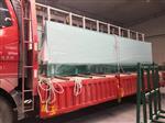 河南湖北汽车展厅4S店吊挂幕墙超白钢化玻璃19mm厚
