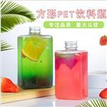 厂家直销350ml果汁瓶网红奶茶瓶创意一次性扁方pet塑料饮
