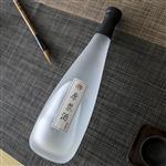玻璃酒瓶高档蒙砂玻璃酒瓶500毫升