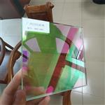 广州同民供应炫彩玻璃 钢化幻彩玻璃神奇的变色效果