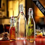 直销250-1000ml玻璃瓶卡扣果汁料瓶密封酒瓶香油厨房调料油瓶小号