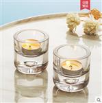北欧浪漫烛台摆件家用简约小蜡烛杯烛光晚餐道具情人表白餐厅装饰