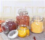 透明不锈钢卡扣五谷杂粮收纳蜂蜜瓶