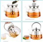 高硼硅玻璃茶壶不锈钢提梁壶烧水煮茶泡茶壶鸭嘴壶耐热