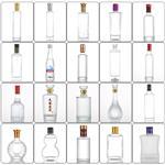厂家直销100小酒瓶白酒瓶透明玻璃酒瓶子烤花蒙砂丝印定制瓶形