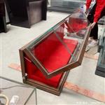 五面玻璃博物馆平柜-掀起式博物馆展柜定做