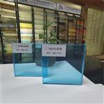 广东供应彩色夹胶玻璃 透明蓝色夹层钢化玻璃
