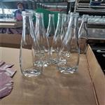 厂家直销新款500ml水滴形厚底女士果酒瓶饮料瓶青梅酒瓶铝盖矿泉水玻璃瓶 精白料玻璃瓶