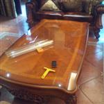 太原安装钢化玻璃 茶几玻璃 定做桌面钢化玻璃