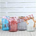 欧式玻璃花瓶透明彩色水客厅装饰摆件插花瓶