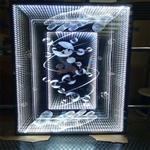 七彩通电发光艺术玻璃 定做生产