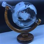 玻璃工艺品 地球仪玻璃酒瓶
