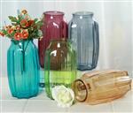 厂家批发八角花瓶工艺品玻璃欧式家居客厅办公插鲜玻璃瓶