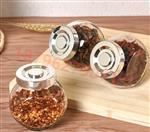 200ml-1斤装扁鼓玻璃瓶花茶调料储物罐