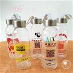 厂家批发随手杯广告玻璃杯印字创意卡通水杯促销礼品杯水杯定制