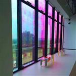 厂家供应钢化炫彩玻璃 透红膜层炫彩变色七彩镀膜玻璃 支持定制