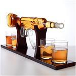 河北省河间市800mlak47造型创意工艺枪泡酒器四杯一枪组