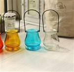 铁线玻璃吊瓶烛台