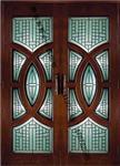 木门配套铜条玻璃