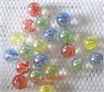 透明花心闪光玻璃球