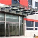 南京钢化夹胶玻璃雨棚安装