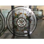 镶嵌玻璃工艺圆窗