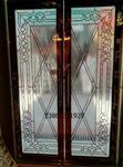 黑条进户门中空镶嵌玻璃