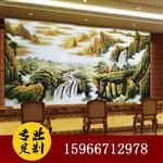 艺术雕刻玻璃背景墙壮丽山河