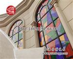 彩色玻璃彩绘玻璃彩色镶嵌玻璃彩绘镶嵌玻璃玻璃门窗定制