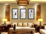 新中式客厅装饰画禅风写意水墨画卧室餐厅三联国画挂画