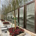 园林专用夹山水画玻璃 夹画玻璃双面效果 广州同民