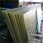 东莞夹丝玻璃厂生产艺术夹布夹丝玻璃 背景墙玻璃按图定制加工