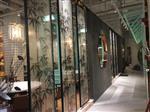 5+5超白 艺术夹丝玻璃屏风