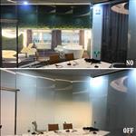会议室电致雾化玻璃 通电玻璃